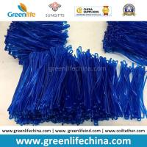 Best Bright Transparent Blue 2.5x150mm Custom Travel Tag Hanging PVC Loops wholesale