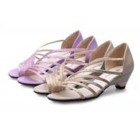 Best Low Heel Purple Summer Fashion Sandals With PU Straps Hollow Upper Back Counter wholesale