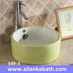 Best 2016 new model fashion colorful baisn round shape sanitary ware art basin for bathroom wholesale