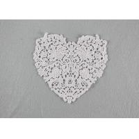 Buy cheap Guipure French Venice Lace Collar Cotton Lace Heart Applique For Wedding Dresses from wholesalers