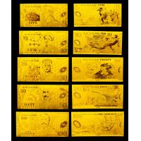 Best Completed Set New Zeanland Gold Banknote With 5 / 10 / 20 / 50 / 100 Dollars wholesale
