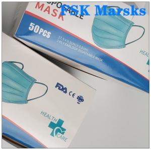 Best CE FDA 3 Ply Surgical Face Mask Disposable Mouth Mask Adjustable Nose Bridge wholesale