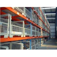 Quality Powder Coating 3-5 Levels Heavy Duty Racking With Steel Plate Decking wholesale