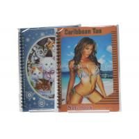 Best Sexy Girl Design Notebook 3D Lenticular Printing Service Journals PET / PP / PVC Lentiuclar wholesale