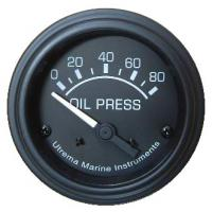 Best Utrema Black Marine Oil Pressure Gauge 52mm wholesale