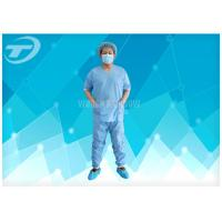 Best SMS Patient Hospital Disposable Scrub Suits Soft Disposable Medical Gowns , CE certified wholesale