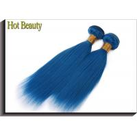Best Double Stitch Weft Hair Extensions Human Hair Dark Blue Color AAAA Grade wholesale