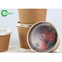 Best 12oz Disposable take away double PE coated thick wall brown kraft paper bowls wholesale