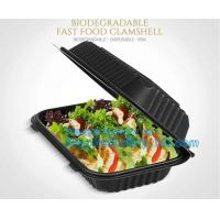 Wholesale 24oz Disposable Bagasse Biodegradable Corn Starch Takeaway Food Container With Lid, bagease, bagplastics pack