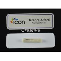 ABS 3D Epoxy Domed Coated Personalised Name Badges For Nurses / Kids