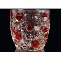 Best Home Decor Glass Candlestick Holders , Hobnail Dots Emboss Glass Candle Jar wholesale