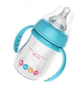 Best Blue 180ml Baby Sipper Water Bottle , infant feeding bottle OEM / ODM wholesale