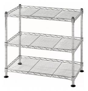 Buy cheap 3 Tier Level Lightweight Wire Shelving Rack Shelf Unit Garage Storage Organizer from wholesalers