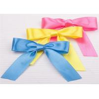 Cheap Decoration Tie Satin Ribbon Bow Washable Home Textile With Dyeing for sale