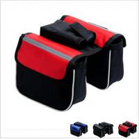 Best bicycle bag double bicycle bag cycling bicycle frame pannier bike front tube bag wholesale