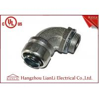 "Best 1/2"" UL Listed Liquid Tight Malleable Iron Steel Lock Insulated Flexible Connector Galvanized 90 Degree wholesale"