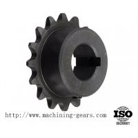 Quality Quenching / Blackened Chain Sprocket Wheel 0.03mm Tolerance Wear Resistance wholesale