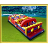Buy cheap train inflatable obstacle course for fun from wholesalers