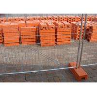 Best Portable Temporary Fence Panels 32MM Pipe Temporary Security Fencing Plastic Feet wholesale