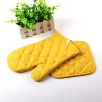 Best Yellow Color AZO Free Customized Logo Printed Kitchen Oven Mitts / Silicone Oven Glove wholesale