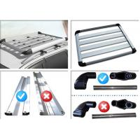 Best Universal Auto Roof Racks , Aluminium Alloy Roof Luggage Carrier With Two Handles wholesale