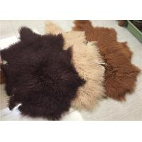 "Best Real Grey Mongolian Sheepskin Rug 20"" X 35"" For Home , Sofa Throw Covers wholesale"