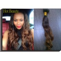 Best 1b# Colored Human Hair Extensions / Ombre Curly Human Hair Weave wholesale