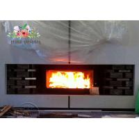 Cheap Indoor Freestanding Cast Iron Fireplace Hand Carved And Polished for sale