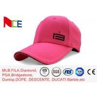 Best Custom Made Simple Adjustable Golf Hats Pink Tall Relaxed Sports Style wholesale