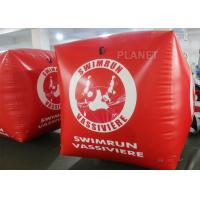 Best Sealed Air 1.5M Inflatable Marker Buoy For Advertising Red Color wholesale