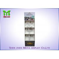 Cheap Eye - Catching Magazines Cardboard Floor Display Stands , Cardboard Book Displays Shelves for sale