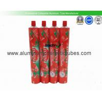 China 150ml Tomato Ketchup Squeeze Tube Containers , Airless Aluminum Collapsible Tubes on sale