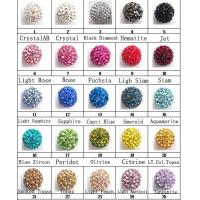 China OEM Colorful Fancy Clay Shamballa Bead / Crystal Pave Beads Jewelry on sale