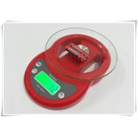 Cheap Tempered Glass Home Electronic Scale Red Color For Kitchen Weighing Food for sale
