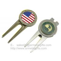 Best Color fill enamel metal golf divot tool with ball marker, colour filled golf pitchforks, wholesale
