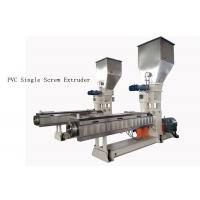 Buy cheap custom PVC Single Screw Extruder neader Hot Cutting Pelletizing System from wholesalers
