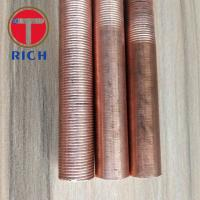 Best Round Copper Coated Alloy Steel Tubes / Heat Exchanger Iow Finned Tube wholesale