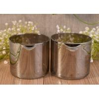 Best Luxury Silver Handmade Glass Candle Holders For Wedding / Home Decoration wholesale