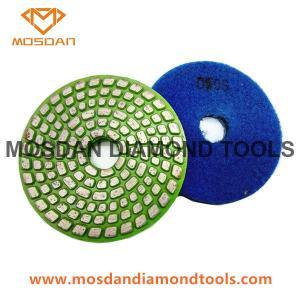Best 4'' Metal Spiral Hard Bond Polishing Pads for Soft Concrete Marble wholesale