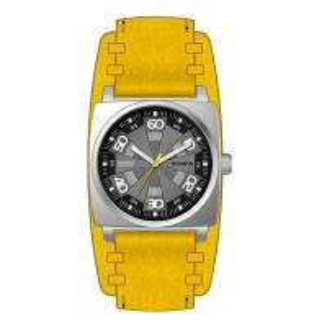 China Men's Square Quartz Wrist Watch With Leather Strap , High End Quartz Watches on sale