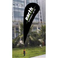 Cheap Sublimation Printing Custom Teardrop Flag Banner With ABS Ground Base 110g for sale