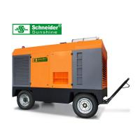 Best High Efficiency Portable Screw Air Compressor , 46KW Mobile Diesel Air Compressor wholesale