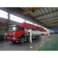 Best LNG Engine 37m 8x4 FAW 380HP Concrete Pump Trucks with RHD Type wholesale
