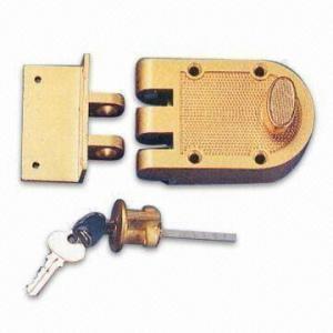 Cheap Zinc-alloy Rim Deadbolt Lock, Suitable for Wooden Doors for sale