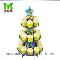 Cheap Tree Tire Round Cardboard cupcake display stands / holders for sale