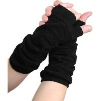 Best Acrylic Black / Green / Yellow / Grey Comfortable Fingerless Gloves Knitting Arm Warmers For Ladies wholesale