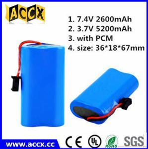 Best ICR18650 2s1p 7.4v 2200mah li ion battery pack for flash lights wholesale