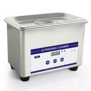 China 0.8L Heated Ultrasonic Eyeglass Cleaner Stainless Steel Dental Ultrasonic Cleaner on sale