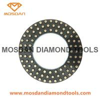 Best 7 Inch Triple Rows Metal Dots Polishing Pads Rings for Concrete wholesale