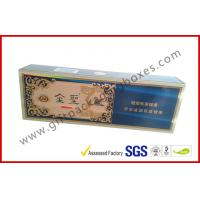 Best China Brand Golden Cigar Gift Box With CMYK Print Sliver Paper wholesale